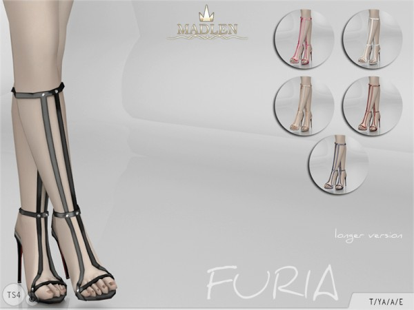 The Sims Resource: Madlen Furia Shoes longer version by MJ95
