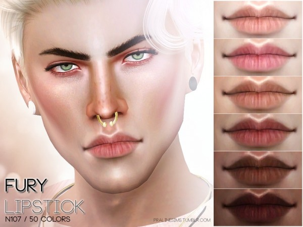 The Sims Resource: Fury Lips N107 by Pralinesims