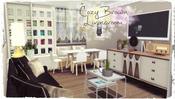 Dinha Gamer: Cozy Brown Livingroom
