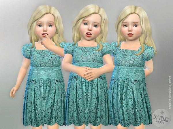 The Sims Resource: Lace Toddler Dress by lillka