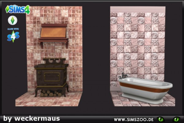 Blackys Sims 4 Zoo: Ceramic tiles by  weckermaus