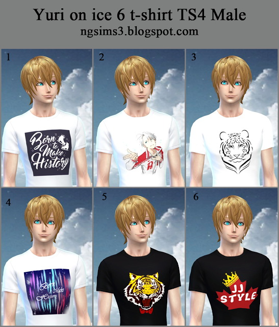 NG Sims 3: Yuri on ice  t shirt