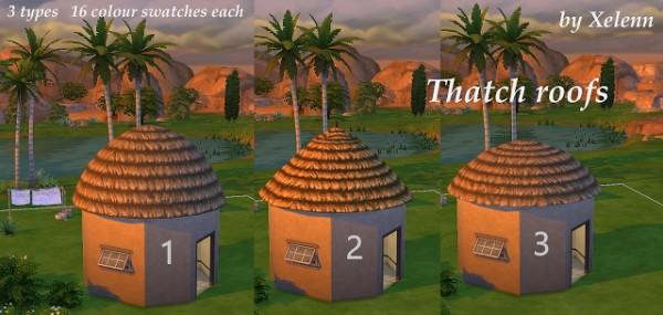The Sims 4 Xelenn: Thatch roofs