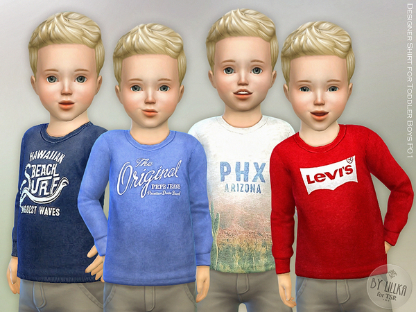 The Sims Resource: Designer Shirt for Toddler Boys P01 by lillka