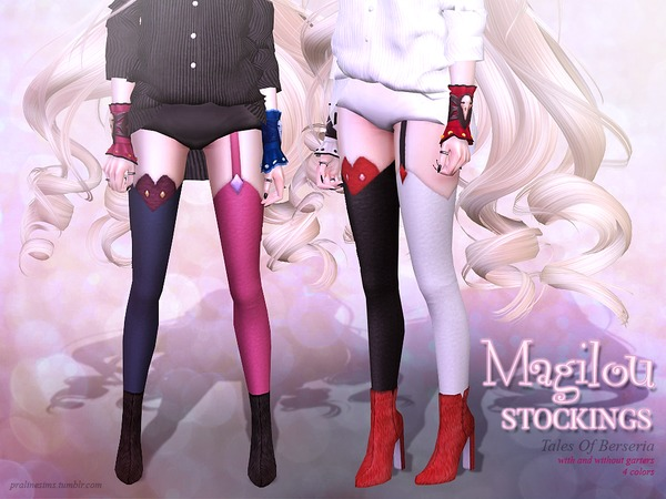 The Sims Resource: Magilou Stockings by pralinesims