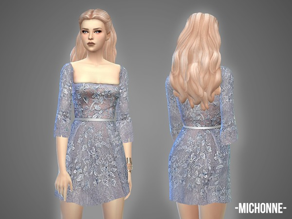 The Sims Resource: Michonne   dress by April