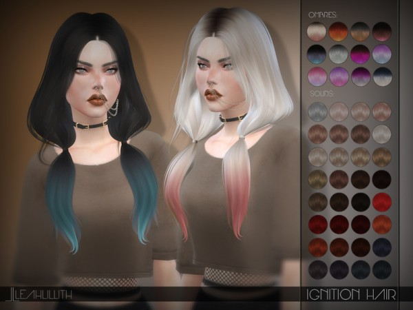 The Sims Resource: LeahLillith Ignition Hair