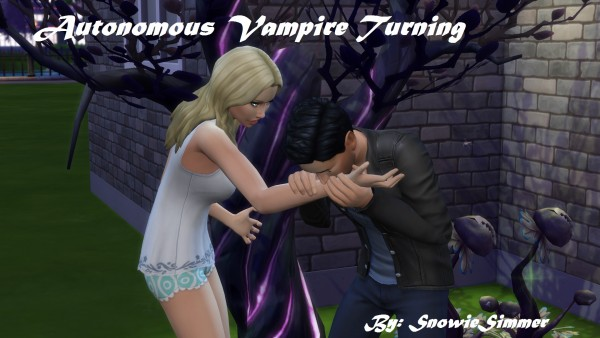 Mod The Sims: Autonomous Vampire Turning by SnowieSimmer