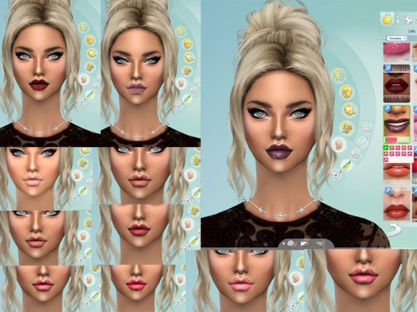 The Sims Resource: Shades of flowers lipstick by linaaa2017
