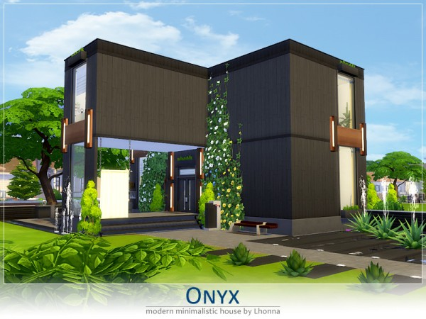 The Sims Resource: Onyx house by Lhonna