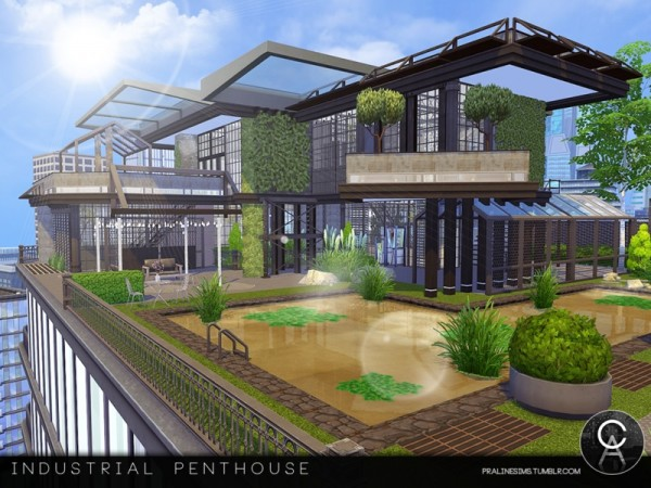 The Sims Resource: Industrial Penthouse by Pralinesims
