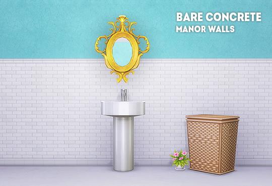 LinaCherie: HS bare concrete manor walls