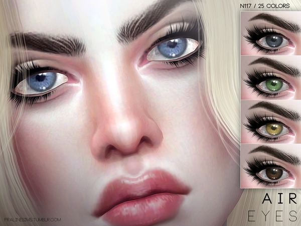 The Sims Resource: Air Eyes N117 by Pralinesims