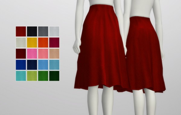 Rusty Nail Simple Flare Skirt Sims 4 Downloads
