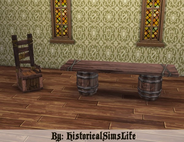 History Lovers Sims Blog: Sims Medieval Pirates ad Nobles Diningroom Set Conversion