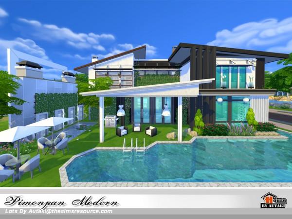 The Sims Resource: Pimonpan Modern house by Autaki
