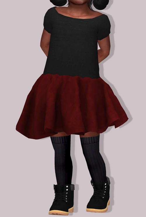 LumySims: Chisami Dress for toddlers