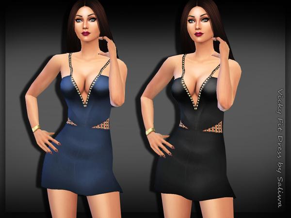 The Sims Resource: Vicky Fit Dress by Saliwa