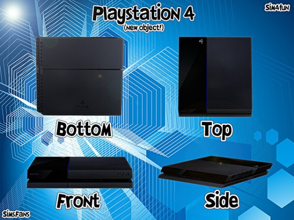 Mod The Sims: Playstation 4 Two Models by Hannes16