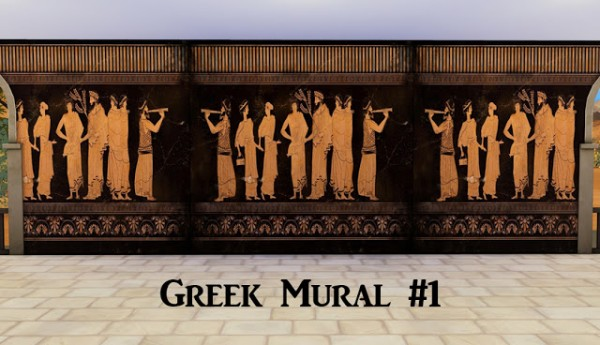 History Lovers Sims Blog: Anceint Greece murals