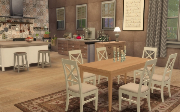 Sims artists kitchen rustique chic sims 4 downloads for Deco meuble furniture richibucto
