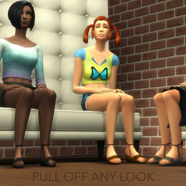 Mod The Sims: The Sims Bustin Out! shoes by SimsRocka778