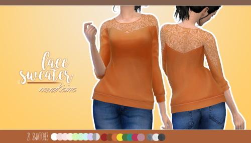 Merakisims: Lace sweater