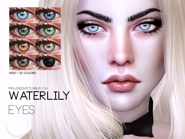 The Sims Resource: Waterlily Eyes N120 by Pralinesims
