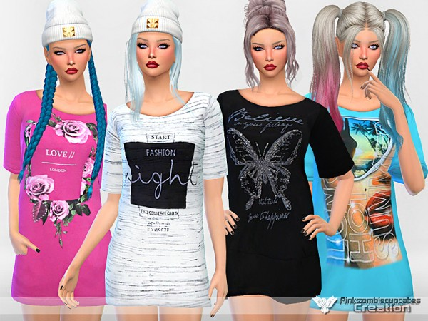 The Sims Resource: Nightgown Collection West Rock by Pinkzombiecupcakes