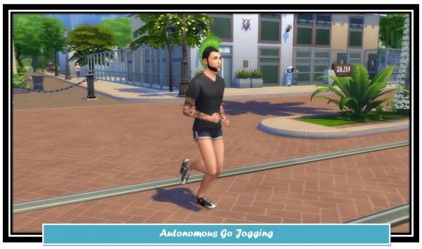 Mod The Sims: Autonomous Go Jogging by LittleMsSam