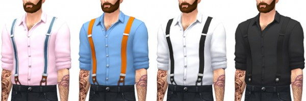 Marvin Sims Suspender Shirts Sims 4 Downloads