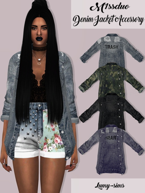 Lumysims Denim Jacket Accessory Sims 4 Downloads