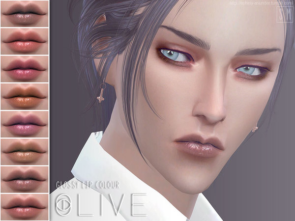 The Sims Resource: Olive   Glossy Lip Colour by Screaming Mustard