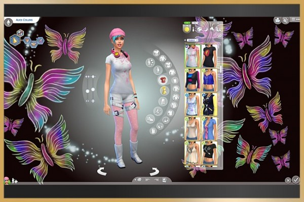 Blackys Sims 4 Zoo: Butterflies White CAS backgrounds