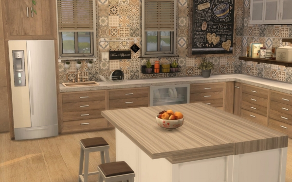Sims Artists Kitchen Rustique Chic Sims 4 Downloads