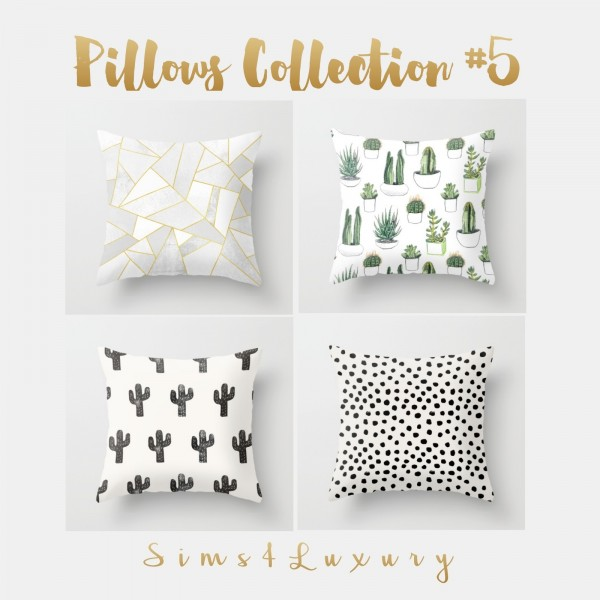 Sims4luxury Pillows Collection 5 Sims 4 Downloads