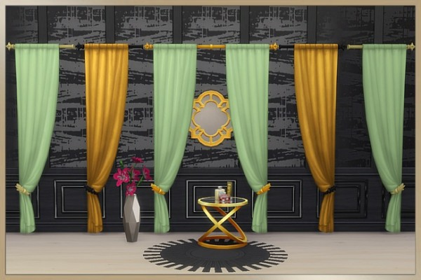 Blackys Sims 4 Zoo: Simple elegance curtains by Cappu