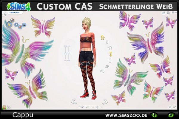 Blackys Sims 4 Zoo: Butterflies CAS backgrounds by Cappu