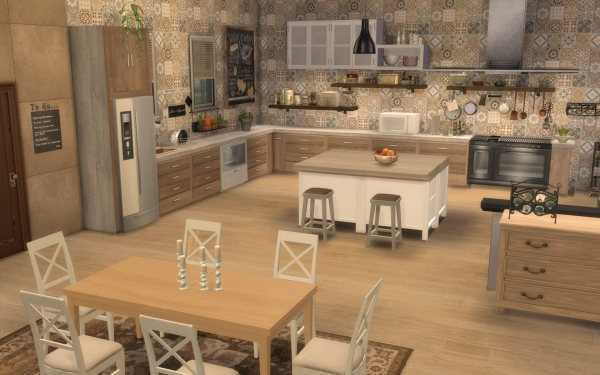 Sims Artists: Kitchen Rustique Chic