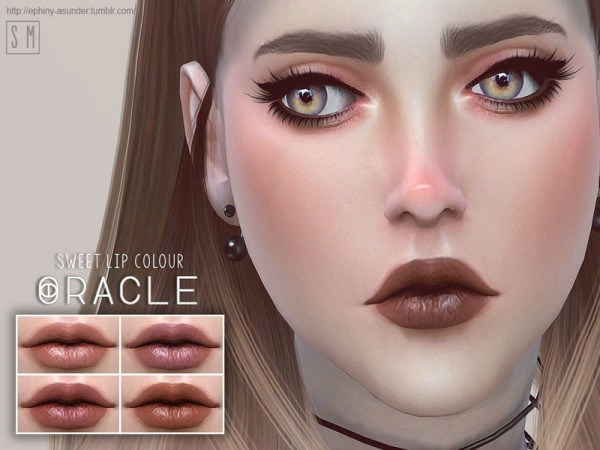 The Sims Resource: Oracle   Simple Lip Colour by Screaming Mustard