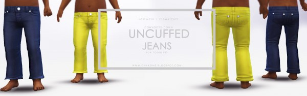 Onyx Sims: Uncuffed Jeans for Toddlers