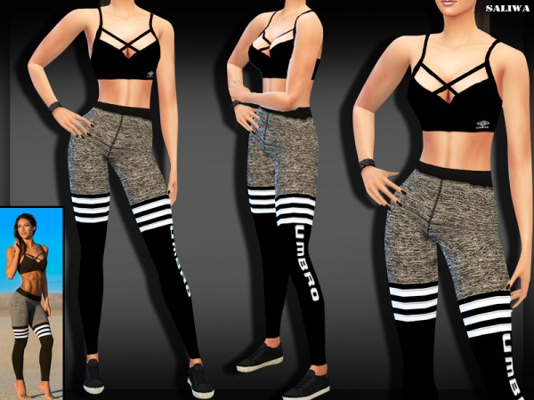 The Sims Resource: Fitness Outfit by Saliwa