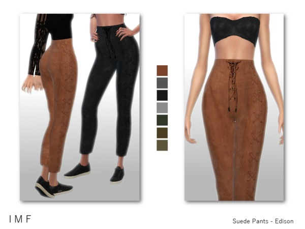 The Sims Resource: Suede Pants   Edison by IzzieMcFire