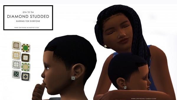 Onyx Sims: Diamond Studs for Everyone