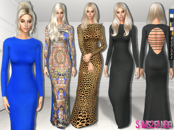 The Sims Resource: 298   Dana Vulins Dress by sims2fanbg