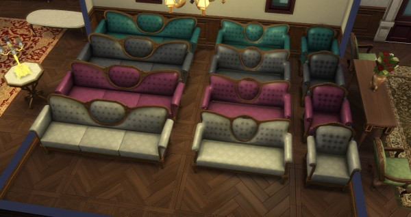 Mod The Sims: Romantique Set   Dining Room and Living Room by TheJim07