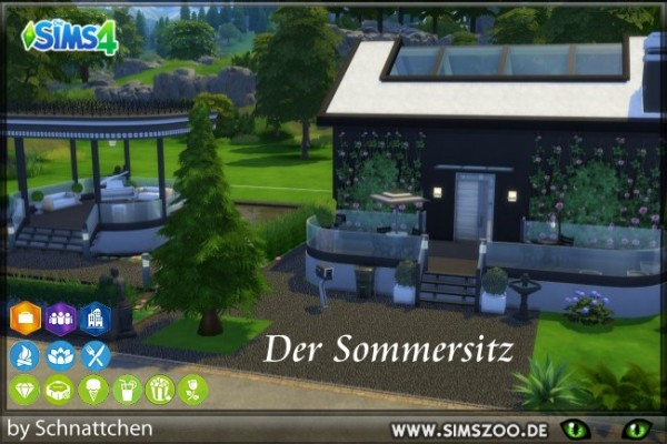 Blackys Sims 4 Zoo: Summer seat house by Schnattchen
