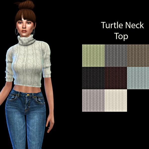 Leo 4 Sims: Turtle Neck Top