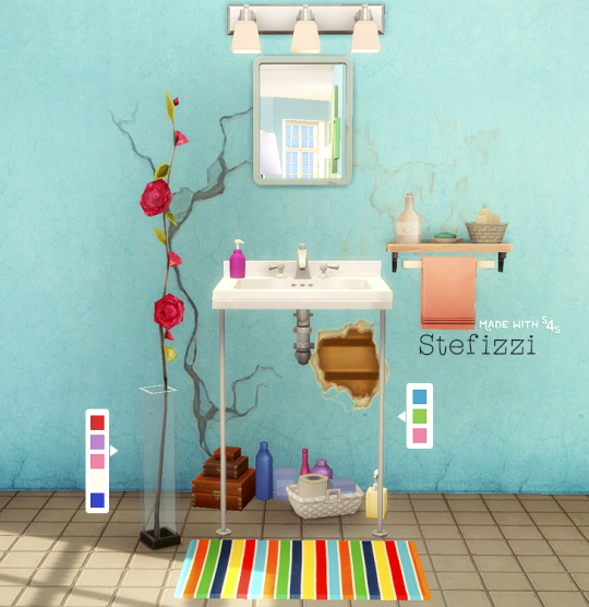 Simsworkshop: The Sink and The Plant by Stefizzi