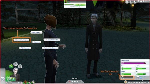 Mod The Sims: Vampire XP Gain Mods   Two Mods by Chaavik